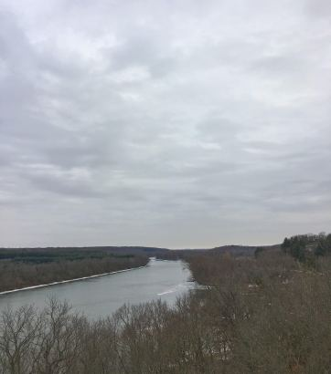 Hope to get back to paddle this puppy. Looking down the Rock River Valley.